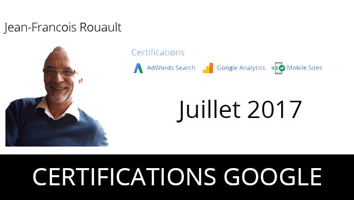 Juillet 2017, je passe les certifications Google.