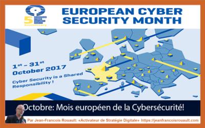 Octobre, le mois européen de la sécurité informatique (cybersécurité).